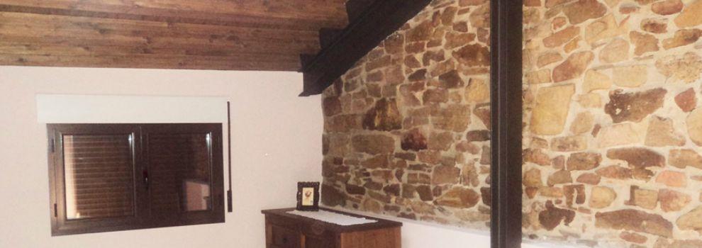 Fachadas y paredes de piedra en soria for Piedra decorativa interior
