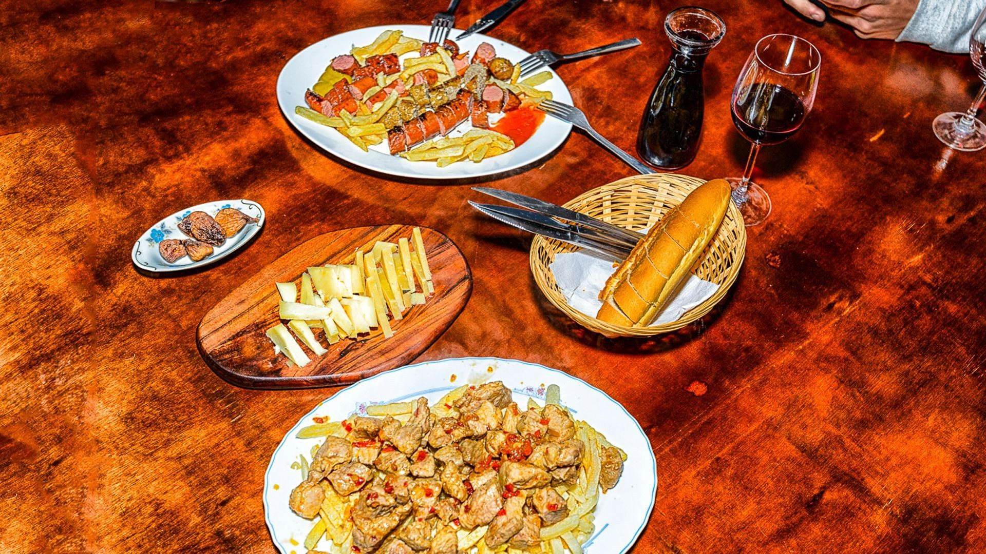 Comida típica canaria en Valverde, El Hierro