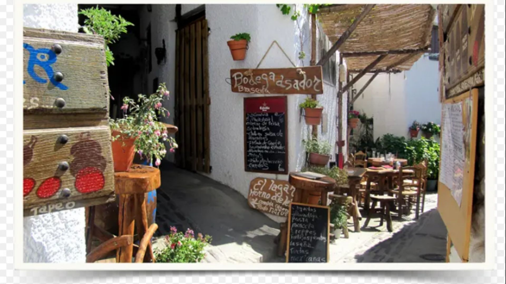 Restaurante y asador en Pampaneira
