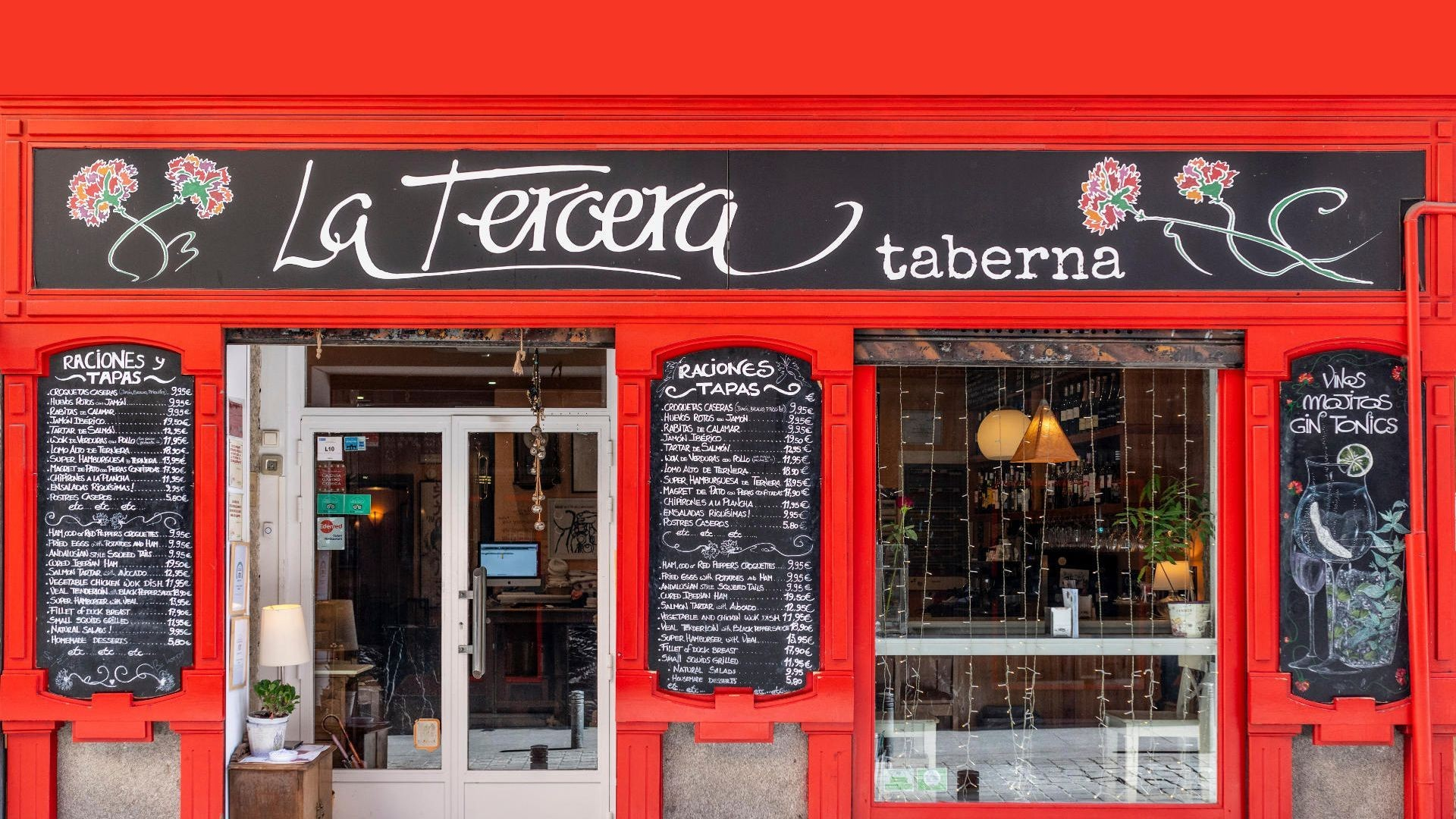 Taberna de cocina madrileña en el Barrio de las Letras, Madrid