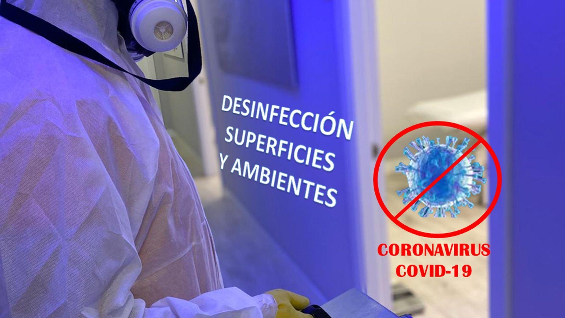 Desinfección de coronavirus en Madrid