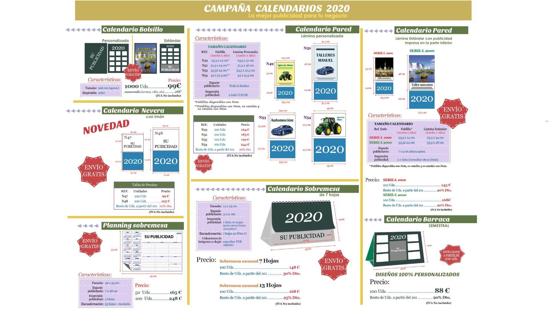 campaña calendarios 2020