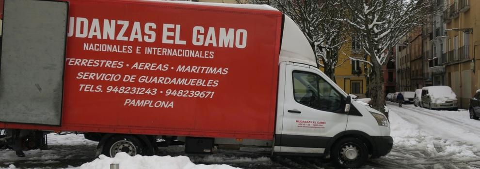 Mudanzas Gamo, Empresa de mudanzas y guardamuebles en Pamplona, Navarra. Traslados nacionales e internacionales. Primera empresa de mudanzas en Navarra fundada en 1945.