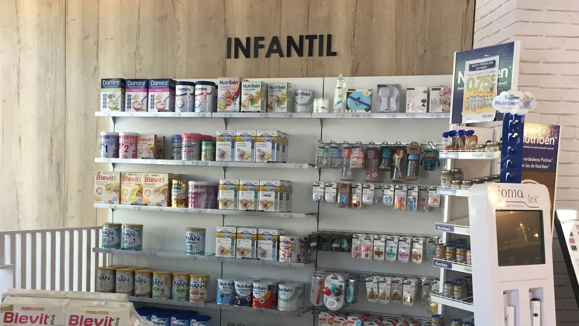 Farmacia con productos infantiles en Ciudad Real