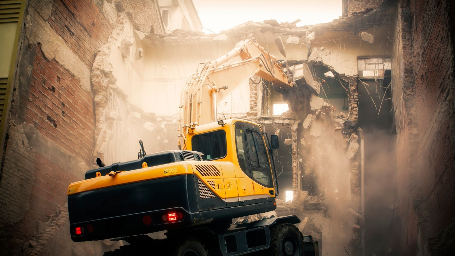 Demolición de obra en Santiago de Compostela