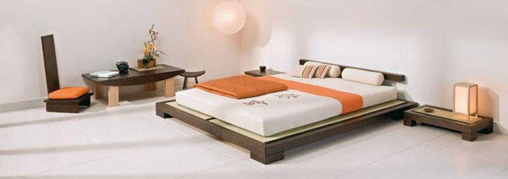 Estructura de la cama tokyo de madera de hevea decoracion in for Estructura cama 90x200
