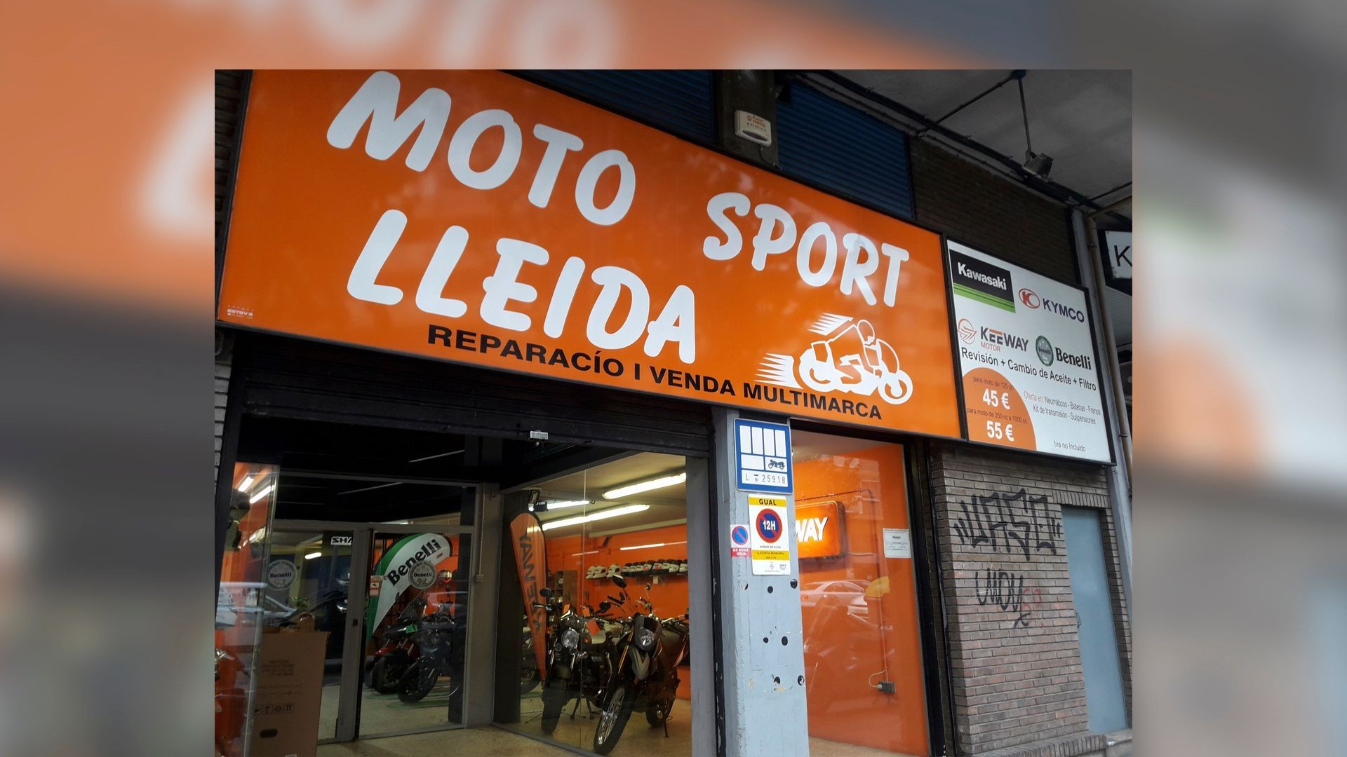 Tienda y taller de motos en Lleida