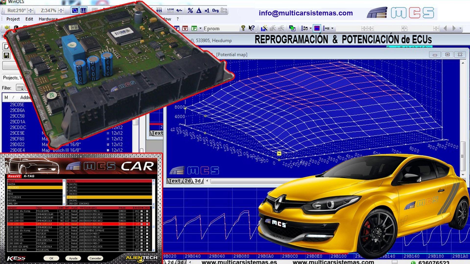 Repro Potenciación Reprogramación ECU centralita motor coche vehículo