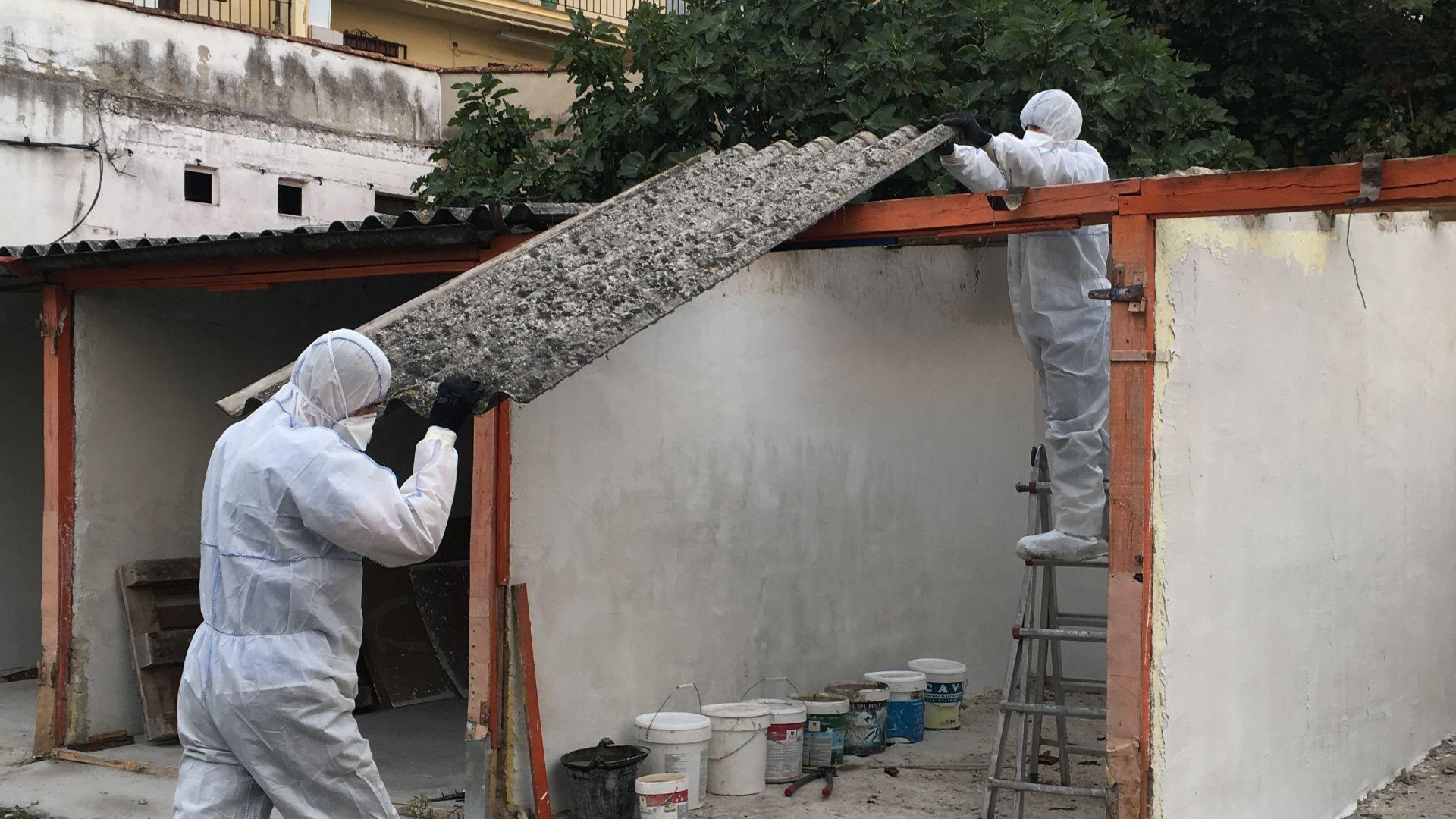 Retirada tejado amianto