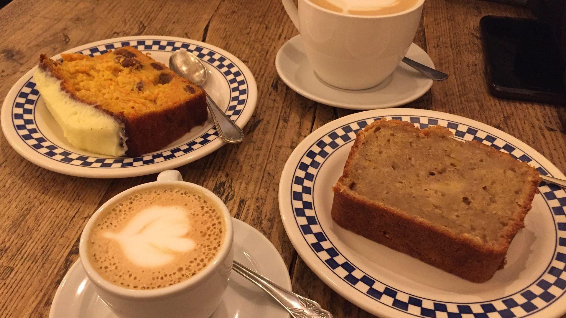 Bar cafetería en el Barrio de las Letras en Madrid