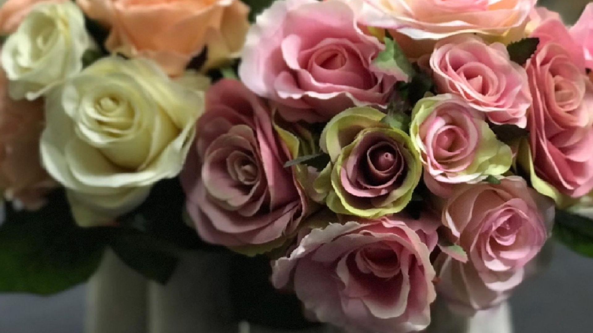 Flores artificiales en Vilassar de Mar