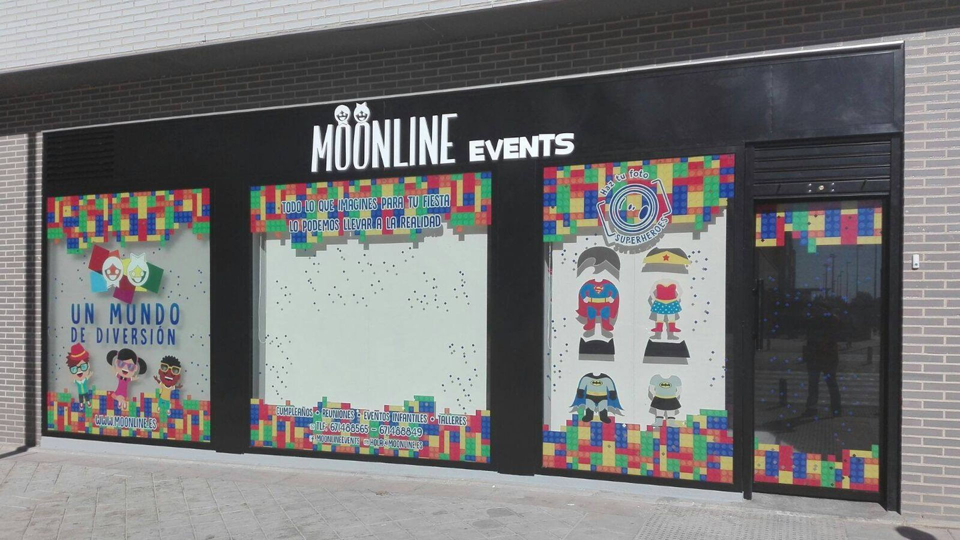 Moonline Events, Local en Fuenlabrada para fiestas infantiles, fiestas privadas y eventos