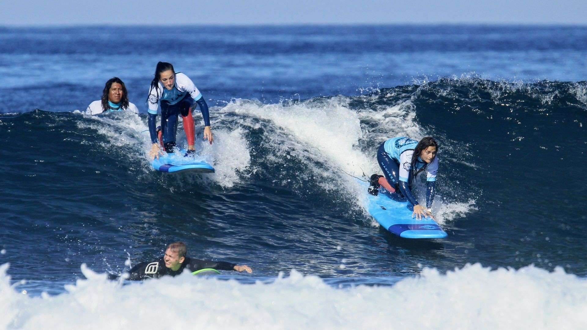 Our students ready to surf the waves !