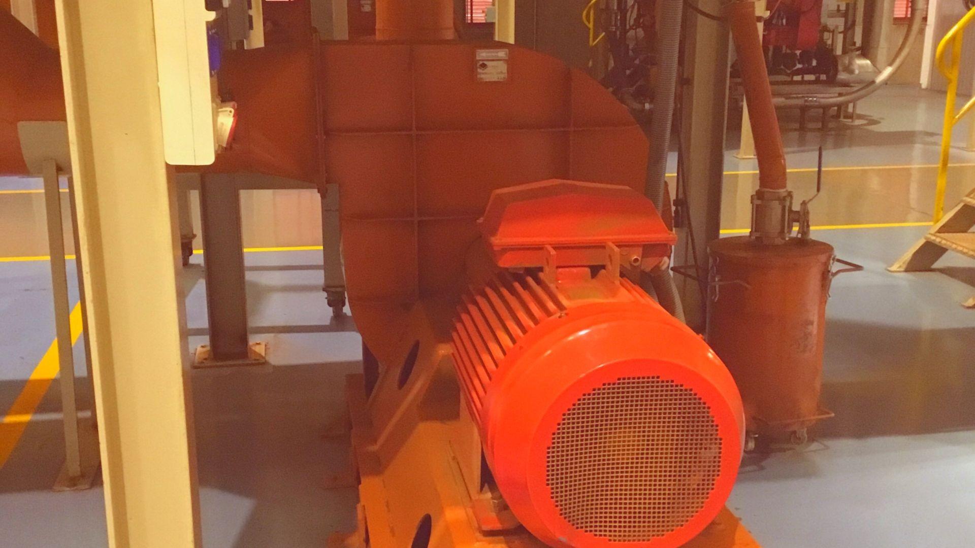 Ventilador centrífugo para transporte neumático