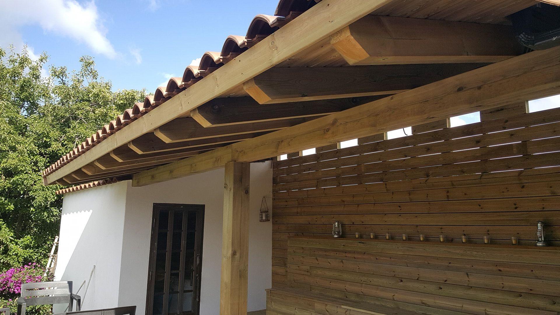 Porches de madera en Pontevedra