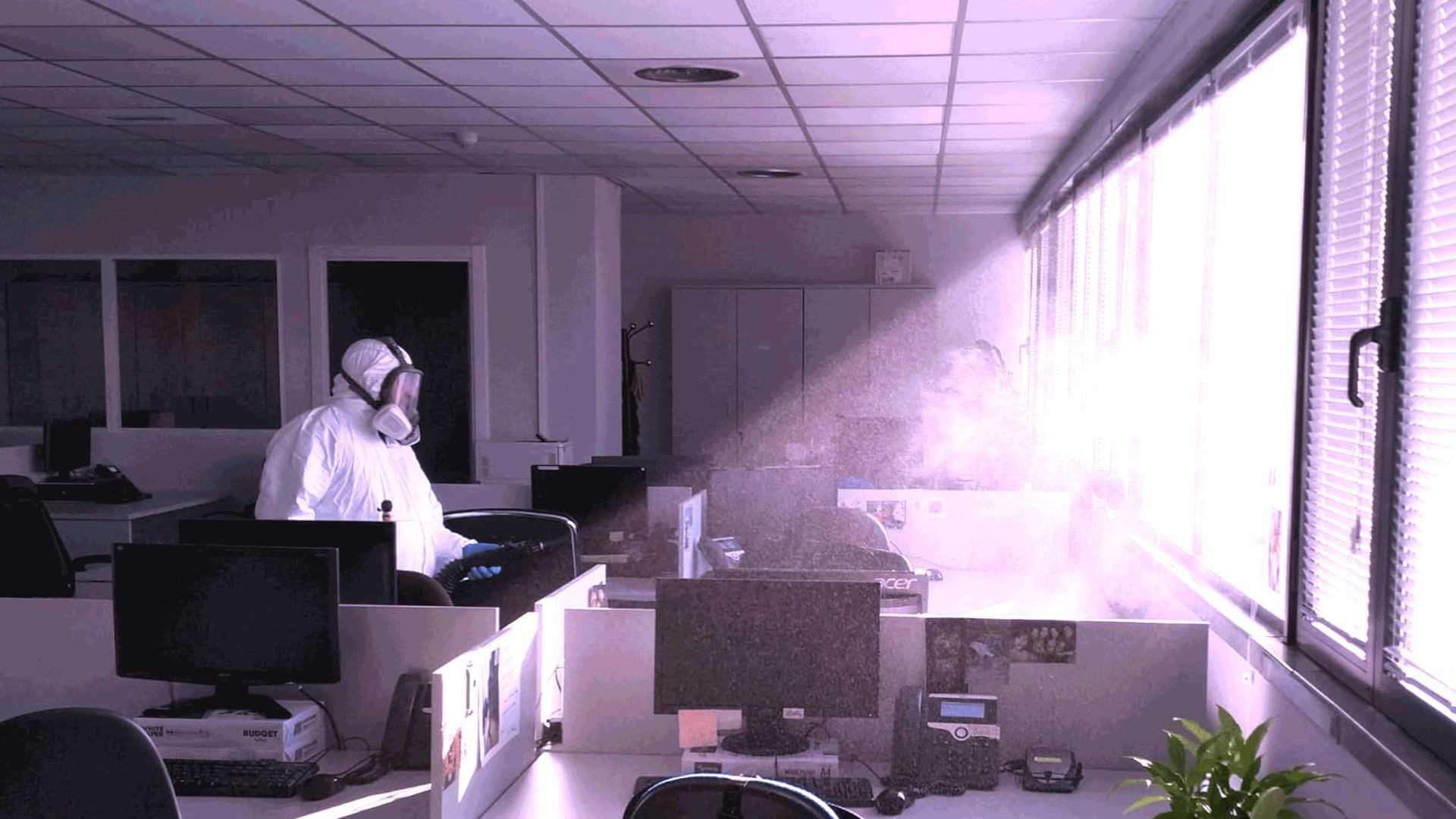 desinfección de amplio rango mediante nebulización