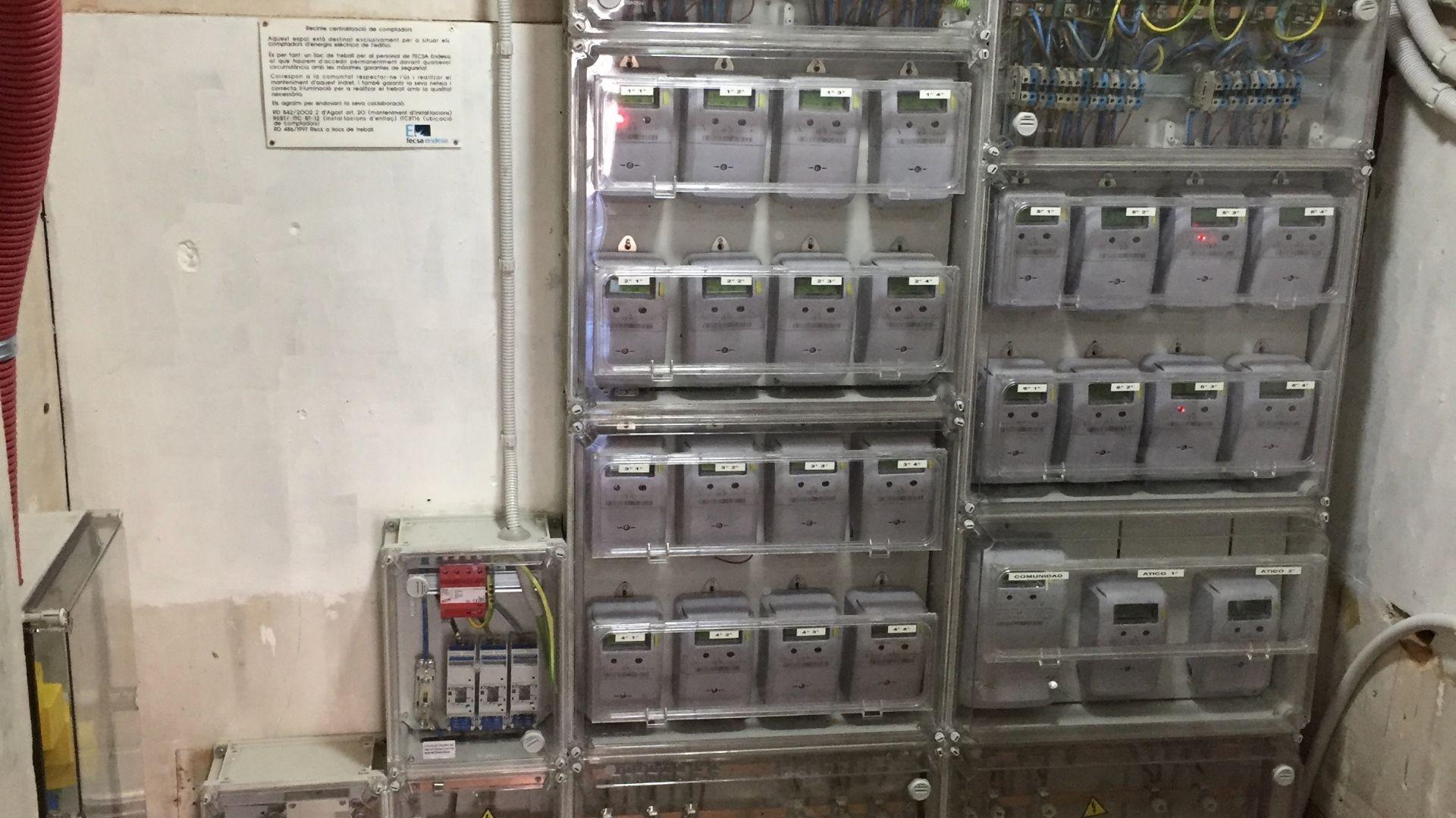 Centralización de contadores. Electricidad.