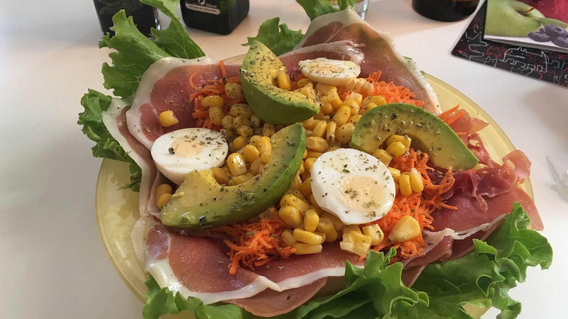 Exquisitas ensaladas en El Medano