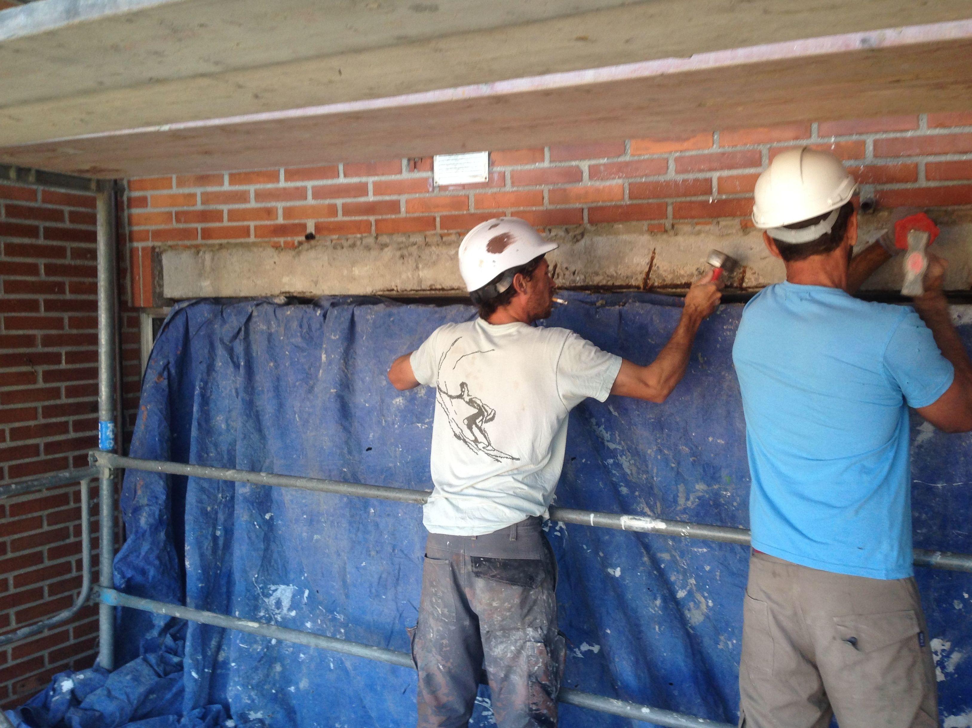 Reparación estructural del hormigón.