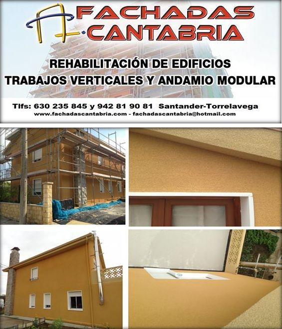 Rehabilitación de vivienda unifamiliar fachadas Santander Torrelavega.