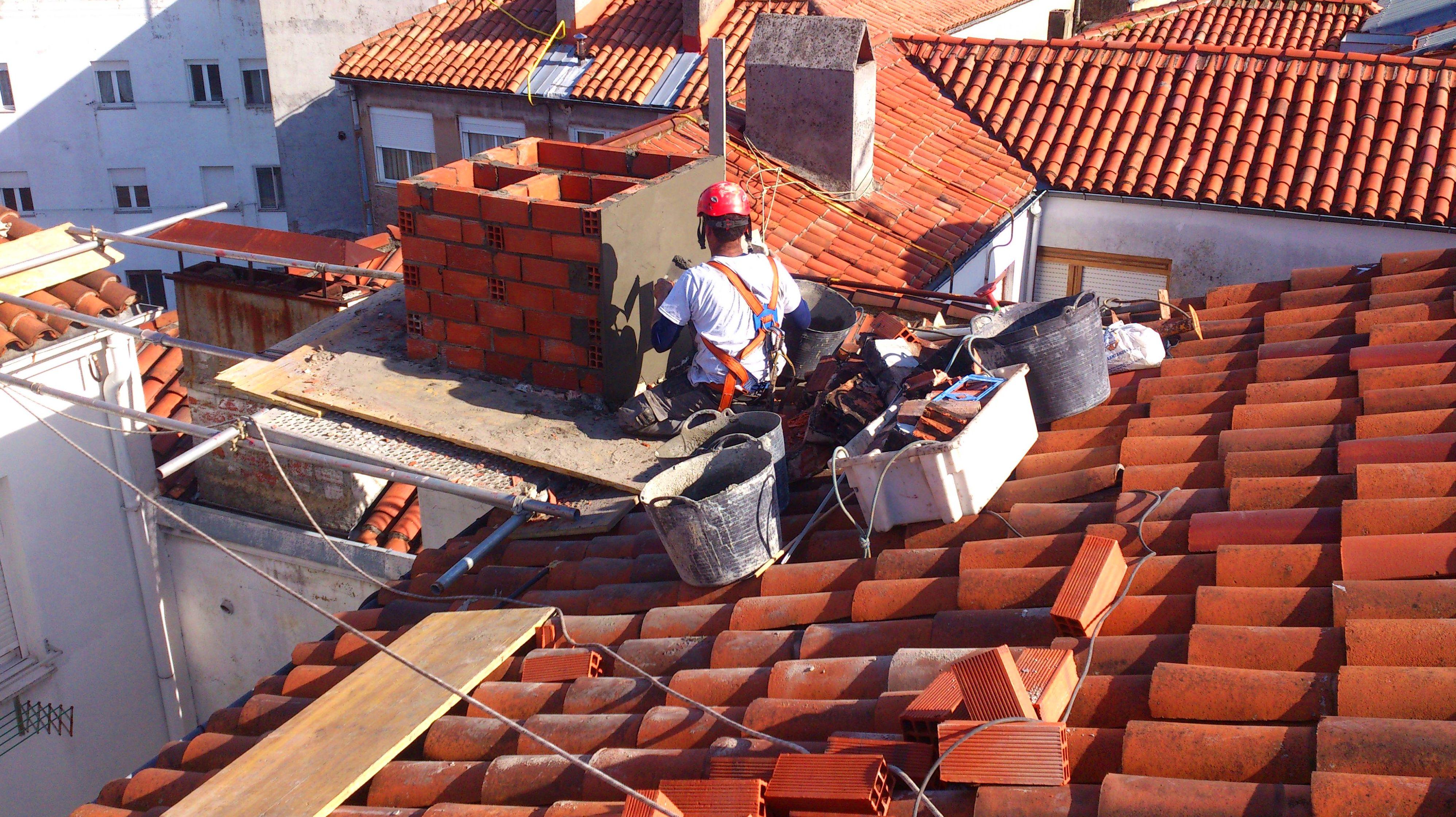 Reparación de chimenea Torrelavega-Santander.