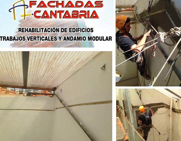 Instalación de junta de dilatación trabajos verticales Santander Torrelavega
