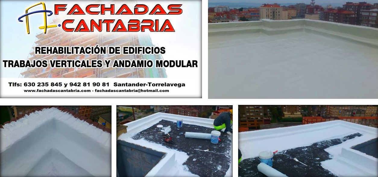 Revestimiento contínuo de cubiertas y azoteas Santander Torrelavega