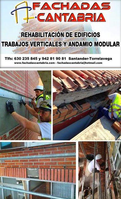 Obra menor de construcción. Reparación y refuerzos estructurales de fachadas Cantabria.