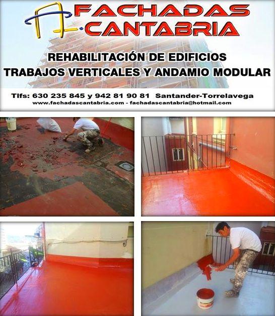 Impermeabilización de cubiertas y terrazas con menbrana de poliuretano con 10 años de garantía.