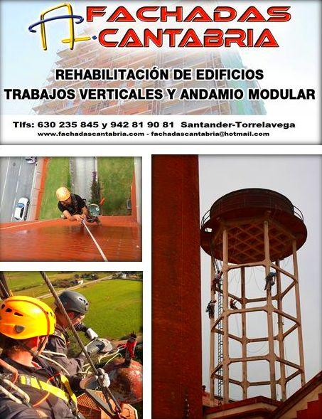 www.fachadascantabria.com , rehabilitación de fachadas en Santander, pintura de patios y terrazas.
