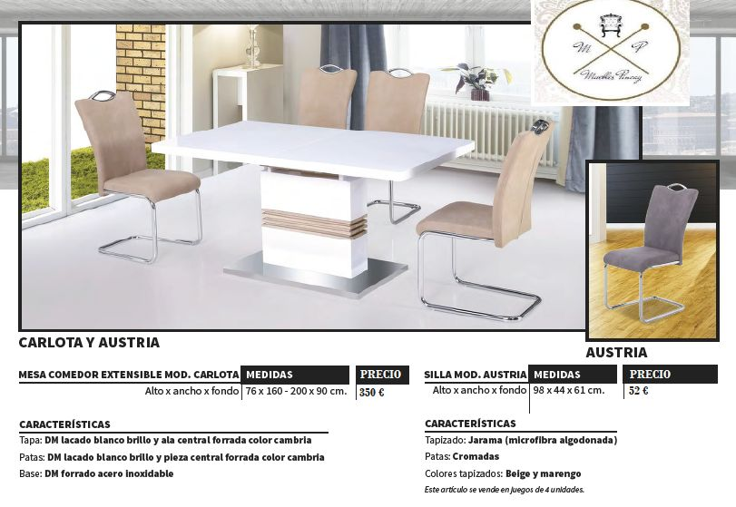 Carlota y austria productos de muebles pincay - Muebles en la carlota ...