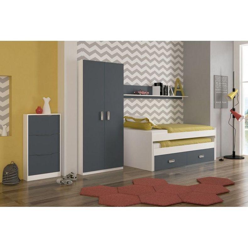 dormitorio juvenil gris productos de muebles pincay