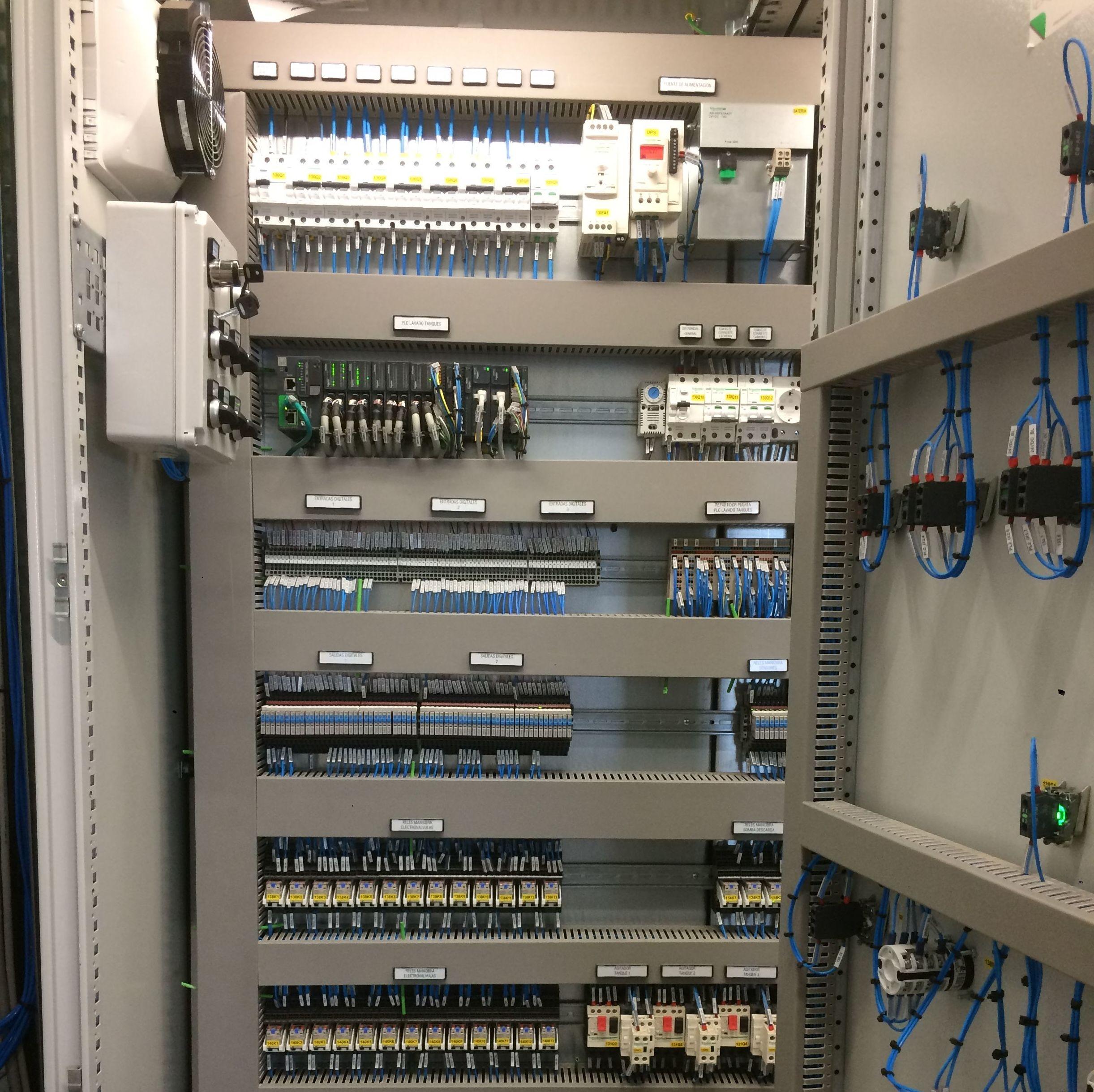 Interior armario de control