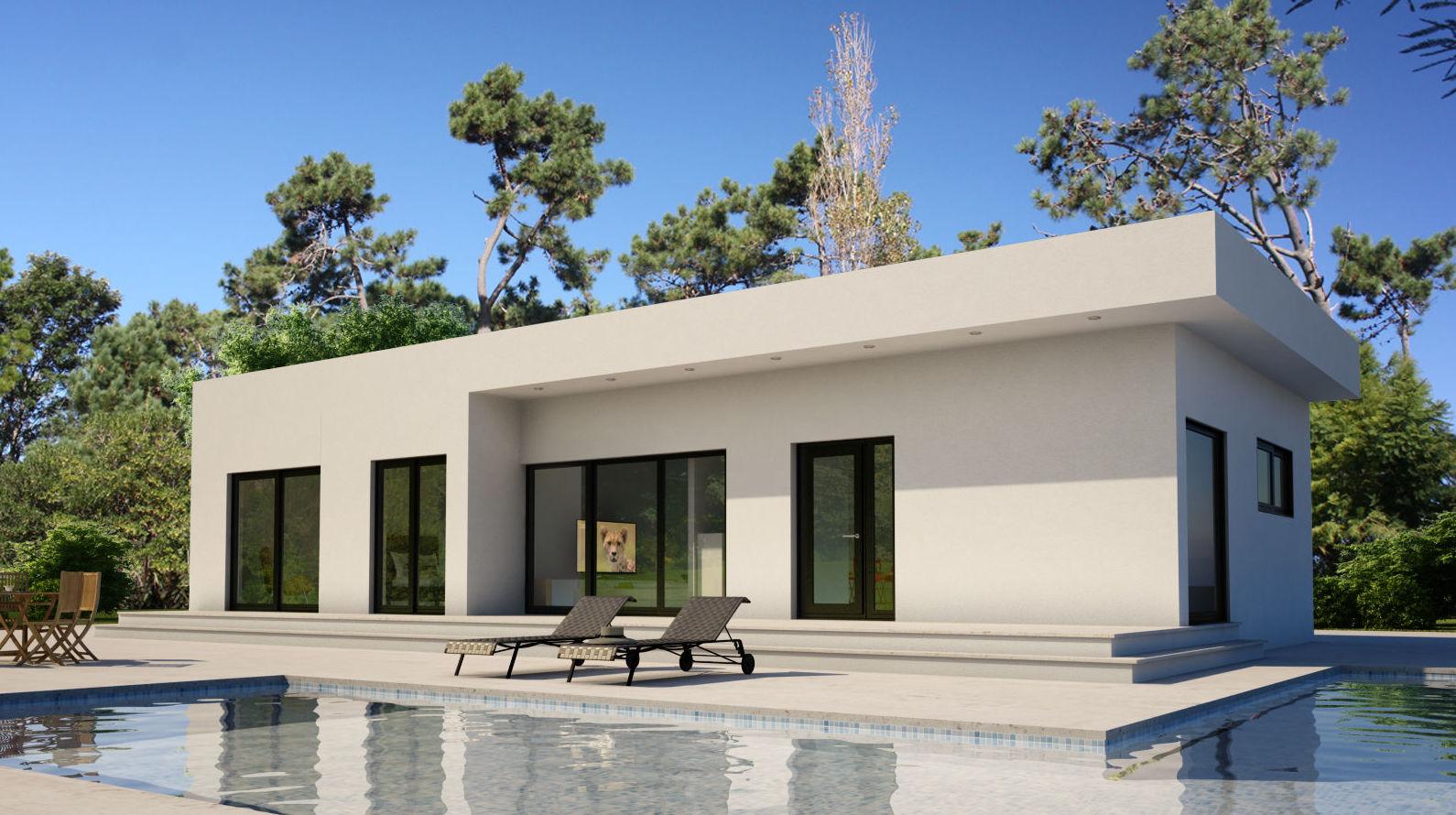 Casa Prefabricada Modelo Barcelona en Lleida