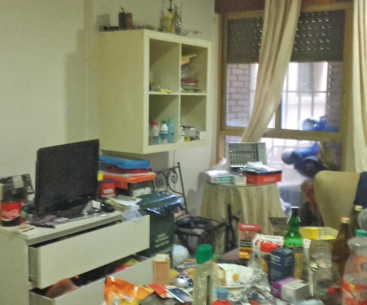 Salón de vivienda con síndrorme de Diógenes