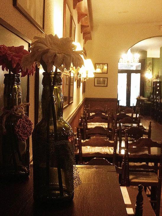 Restaurante con entrantes variados en Barcelona