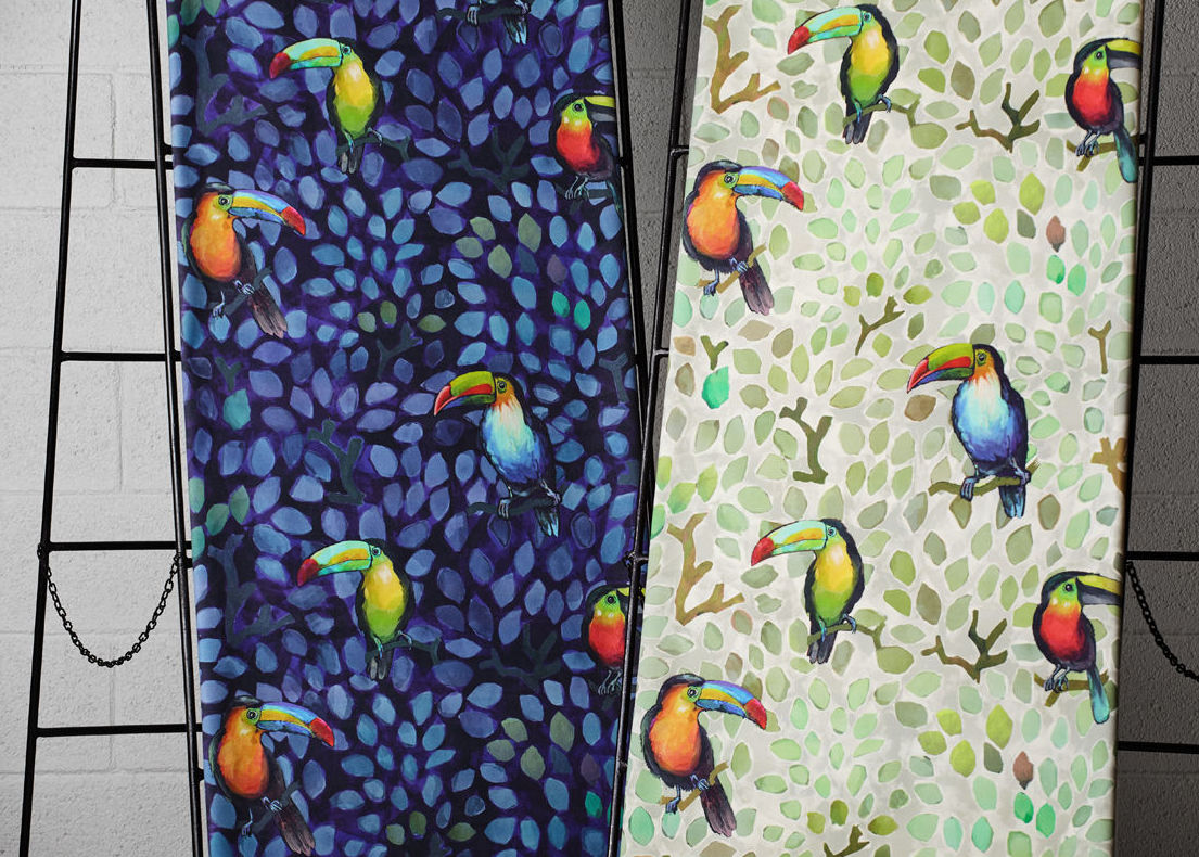 Papeles tucanes en colores alegres