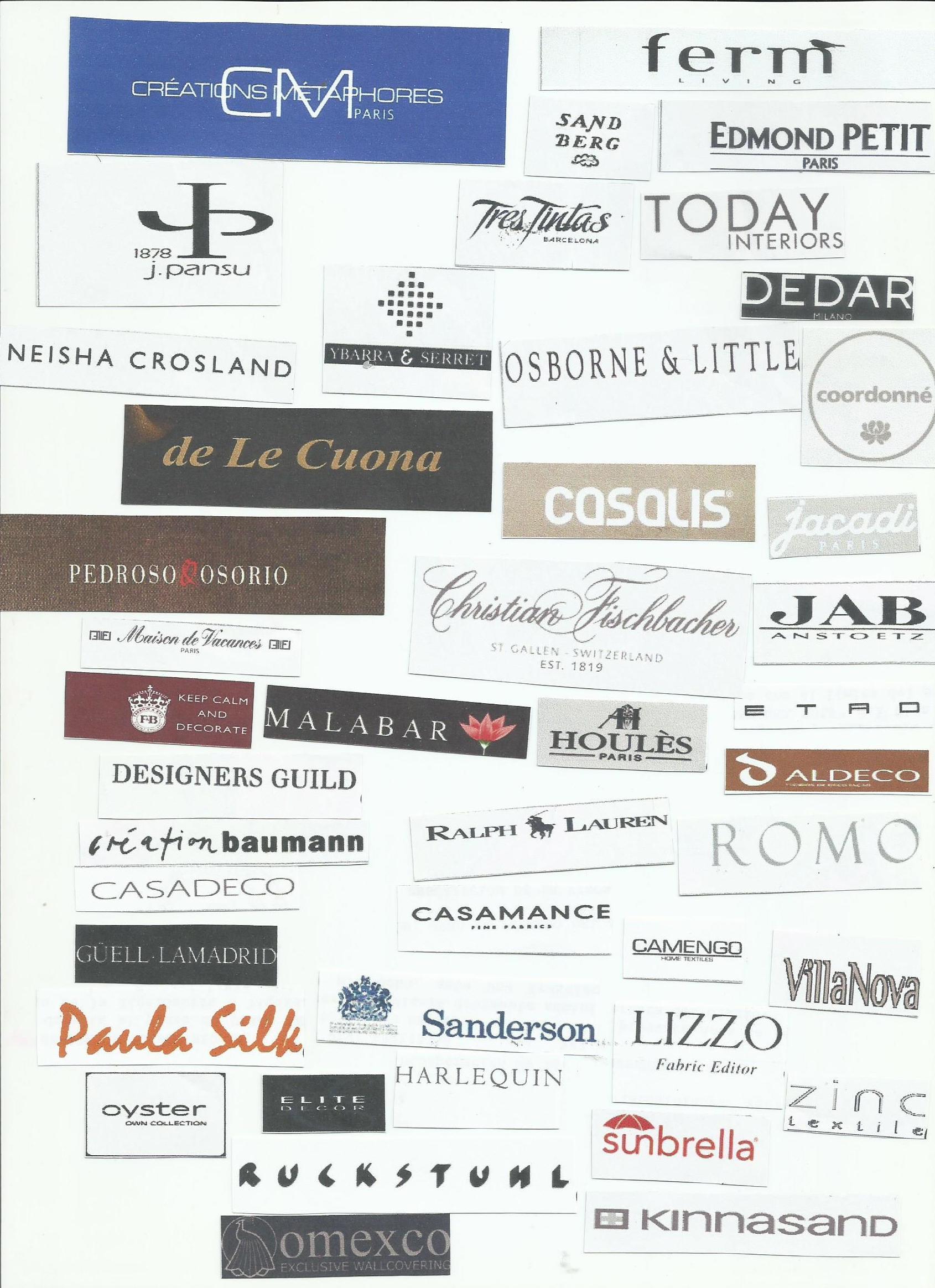 Marcas: Productos y servicios de Diseño Textil