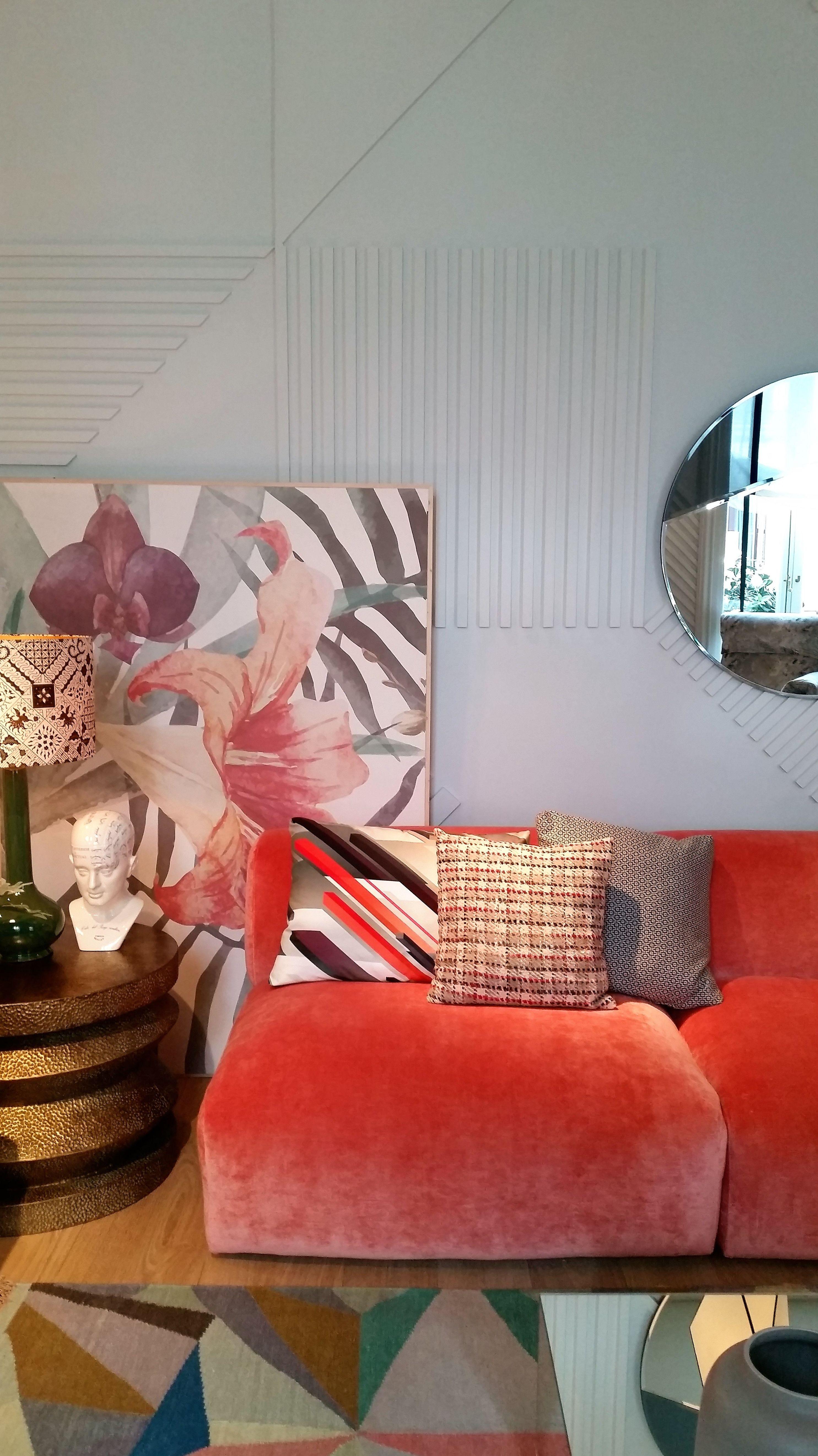Nuestras telas presentes en Casa Decor 2016, en tapizados y complementos, ayudando a crear ambientes cálidos y acogedores.