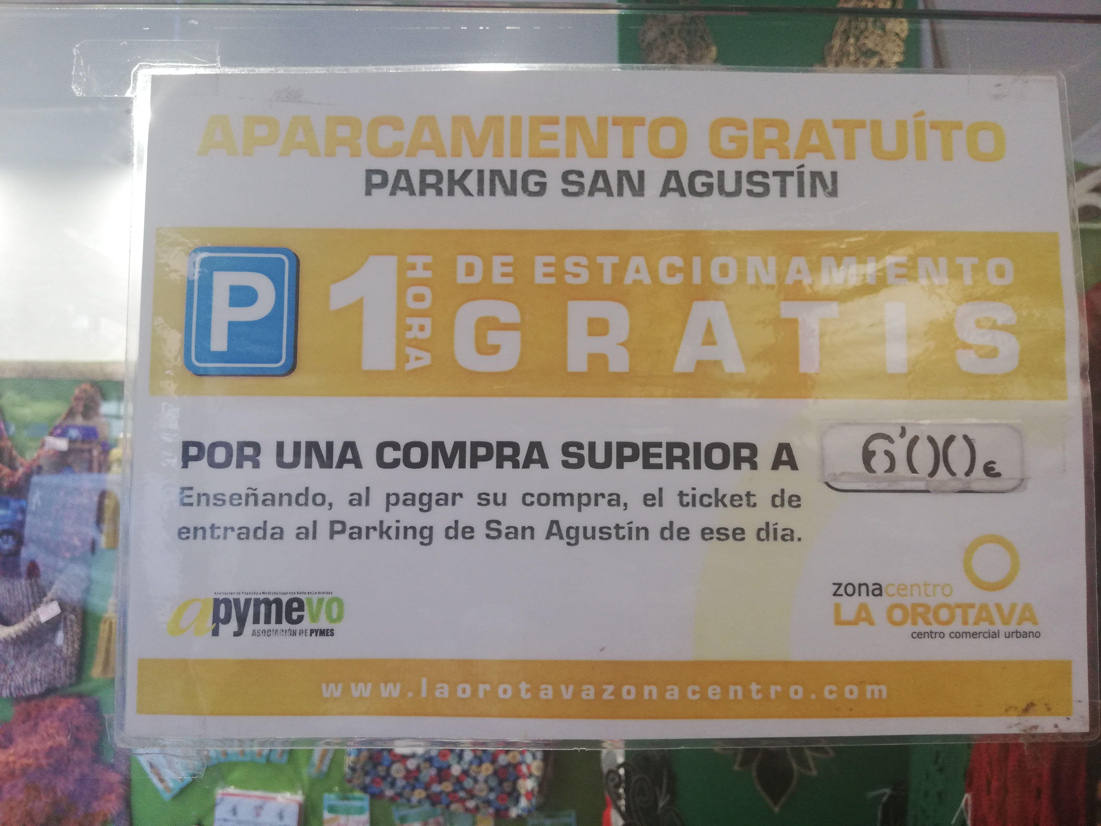 ¡1 h de estacionamiento gratis!