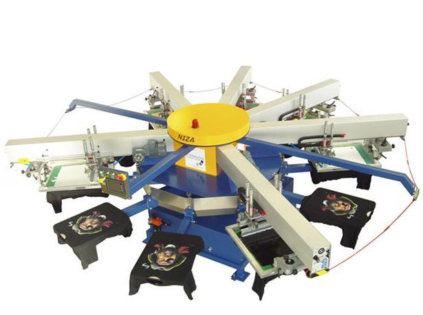 Máquina para serigrafía textil automática