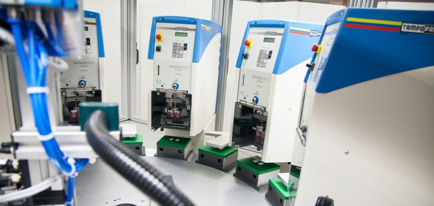 Máquinas estándar para impresión por tampón lineal