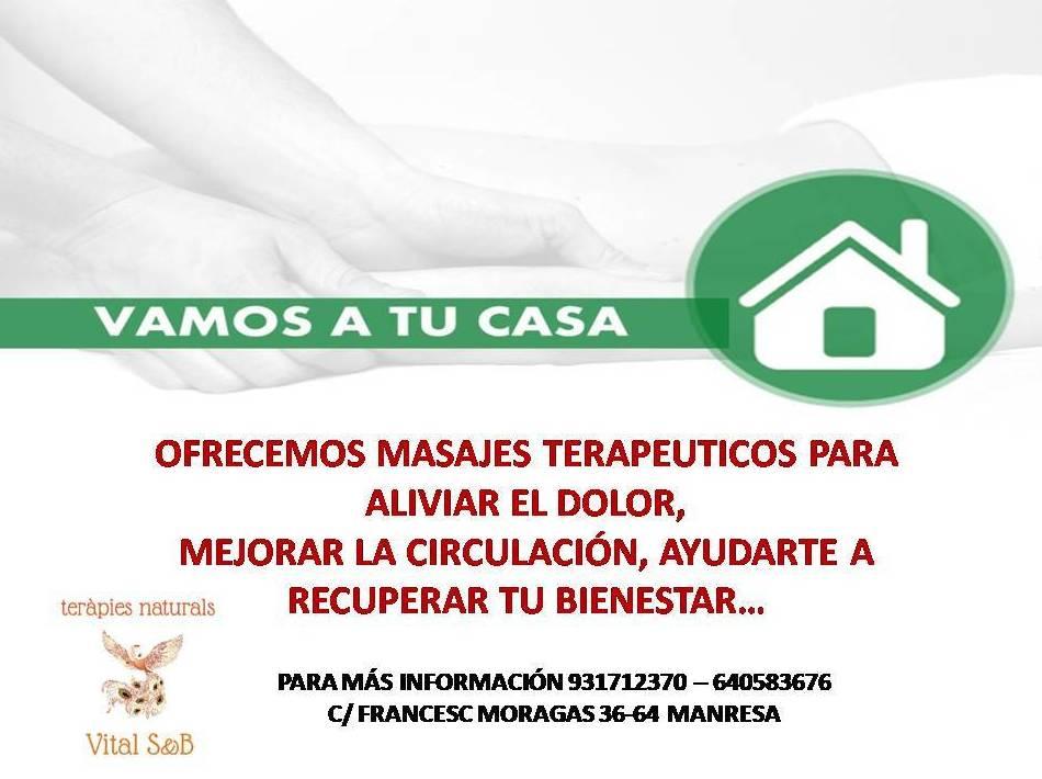 MASAJES TERAPEUTICOS A DOMICILIO: Servicios de Vital S&B