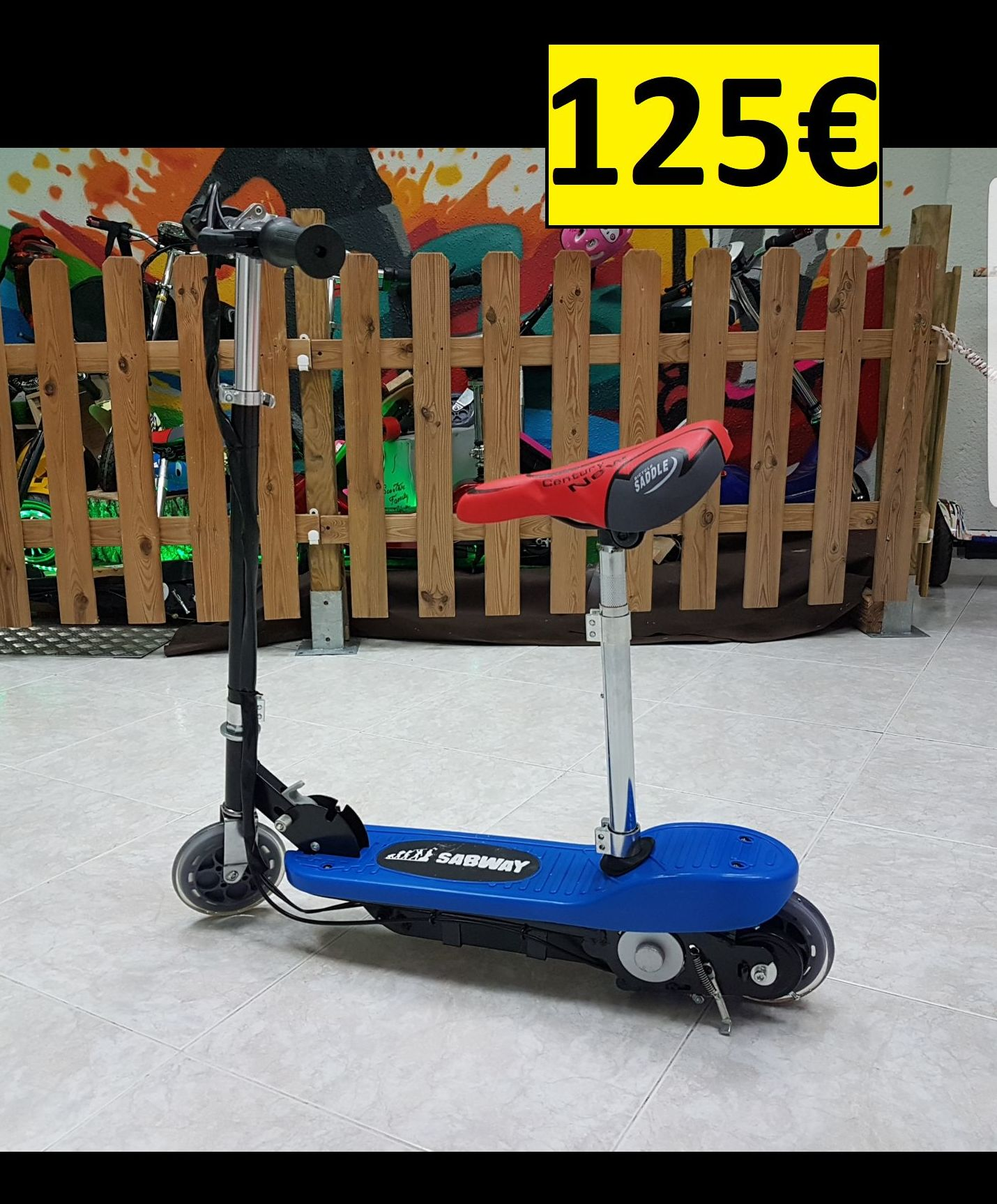 125€ PATINETE ELECTRIC SCOOTER 120W 24V (NIÑ@S): Productos y servicios de PATIPACO