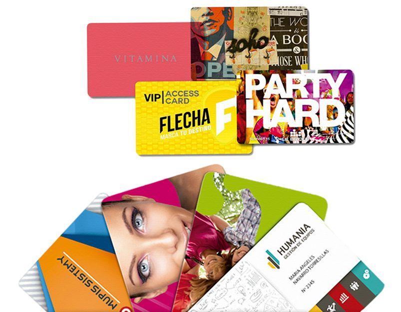 Impresión de tarjetas de PVC en Sevilla