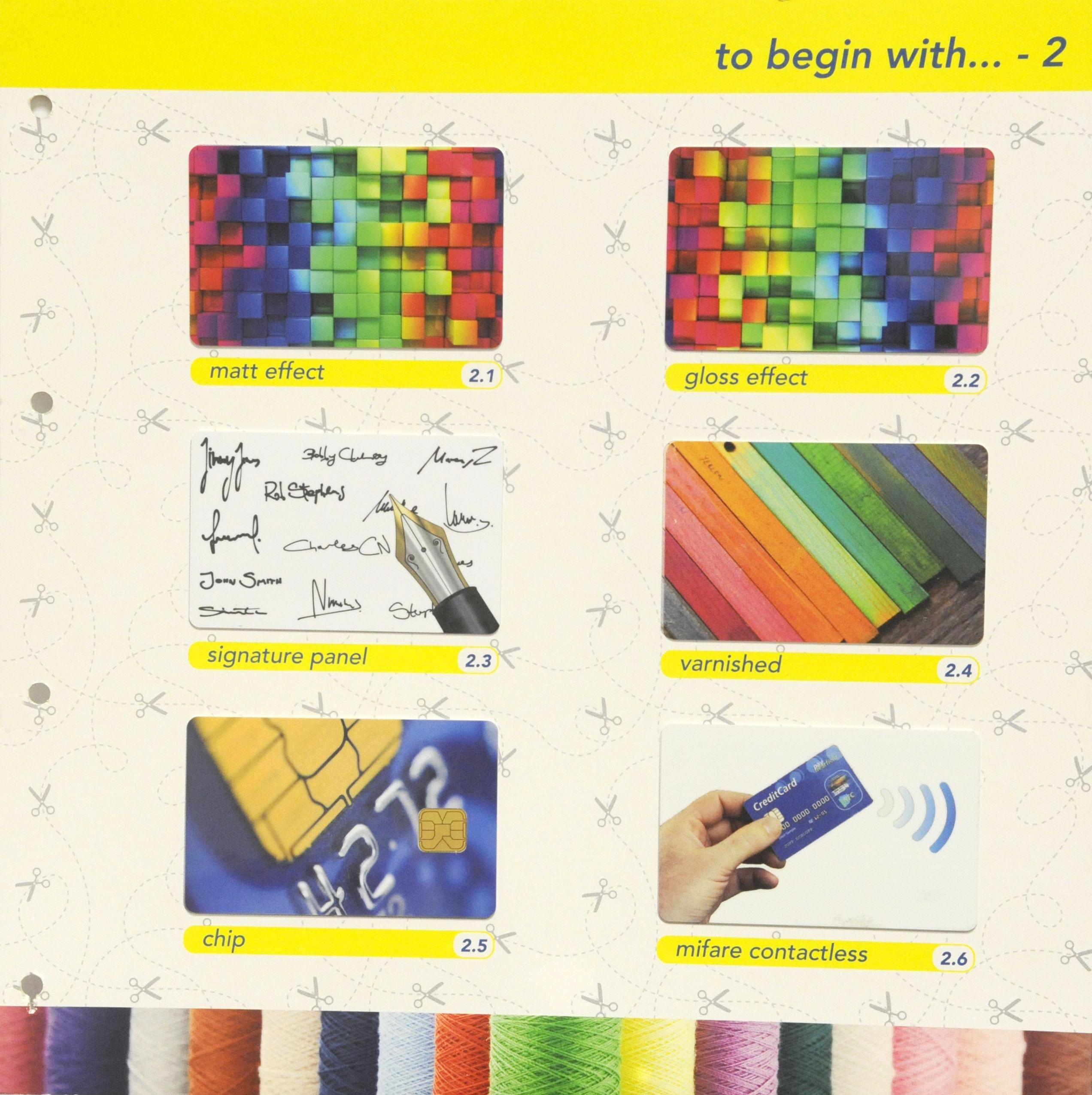 Tarjetas plásticas de PVC  personalizadas