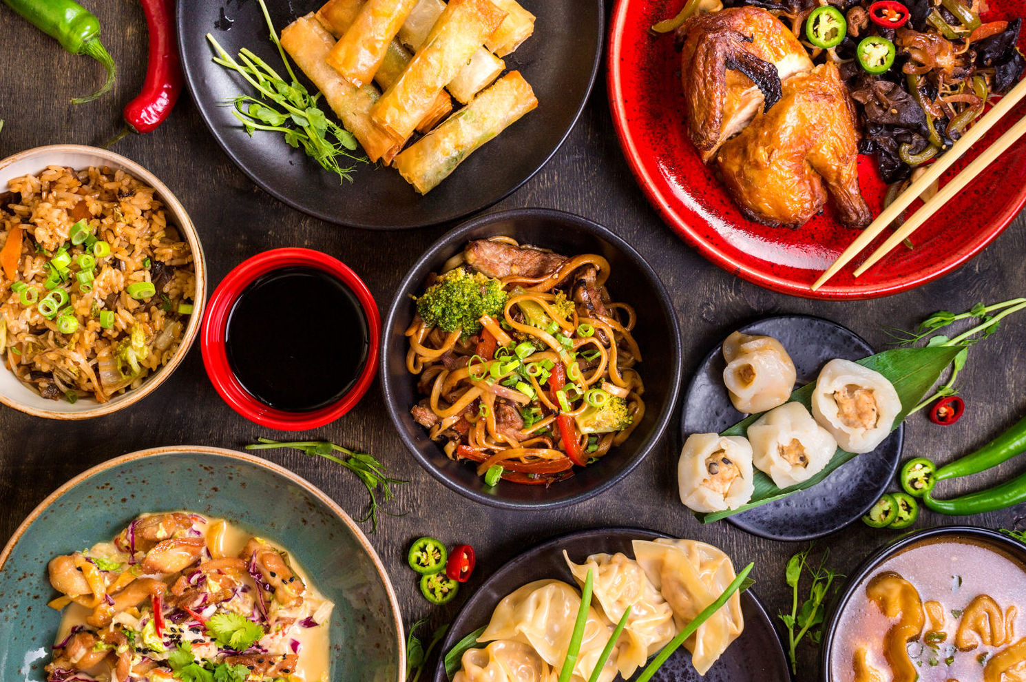 Distribución de productos de alimentación asiáticos
