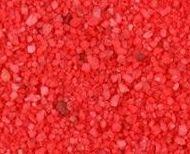 Arena de mármol pigmentada roja