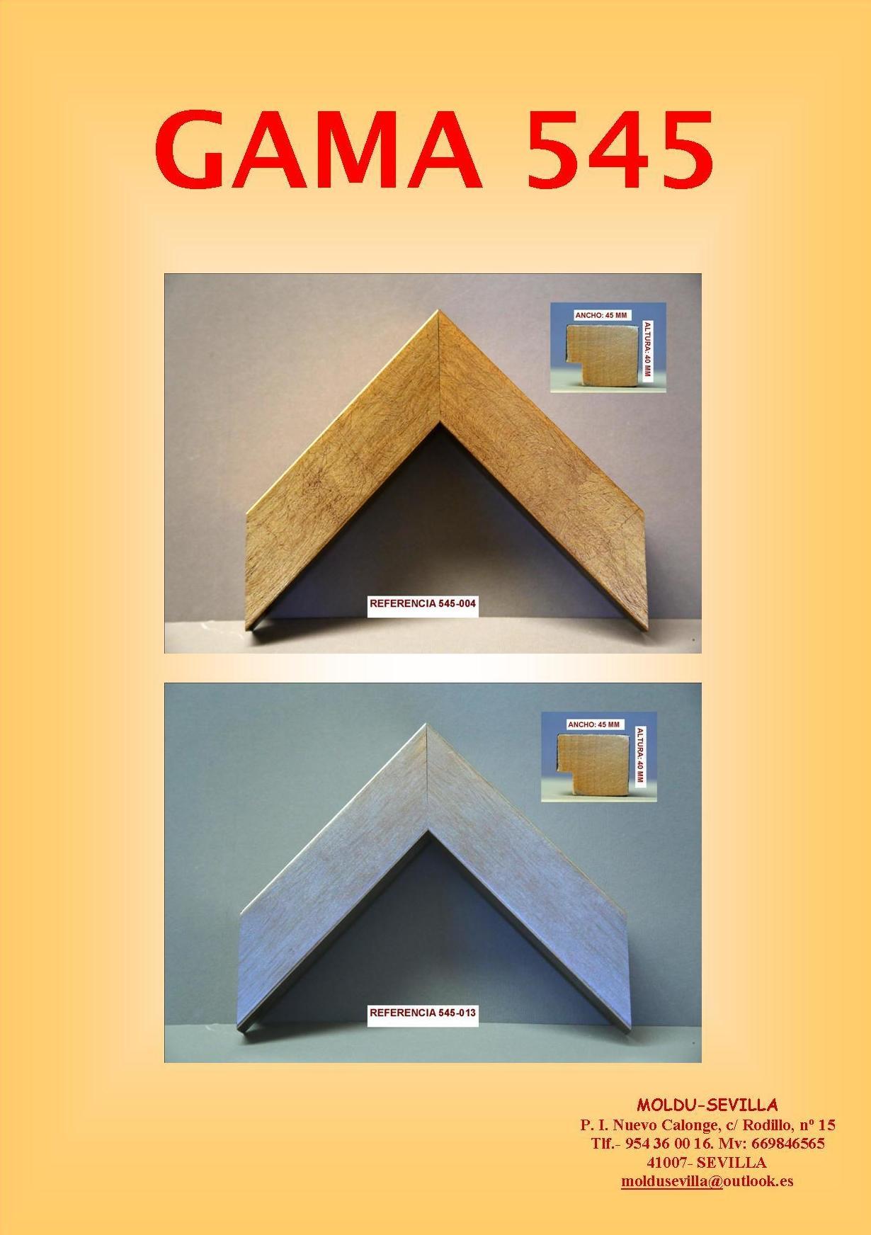 GAMA 545: Muestrario de Moldusevilla