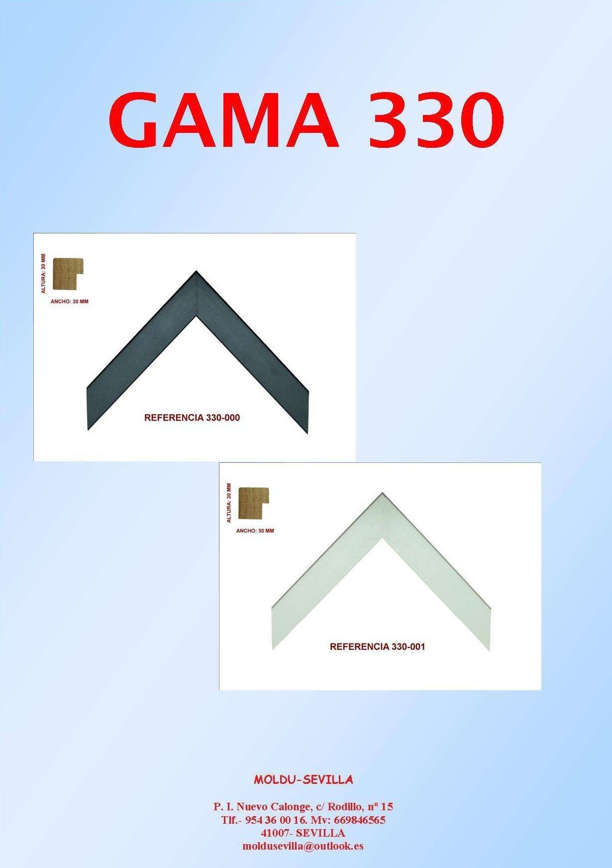 GAMA 330: Muestrario de Moldusevilla